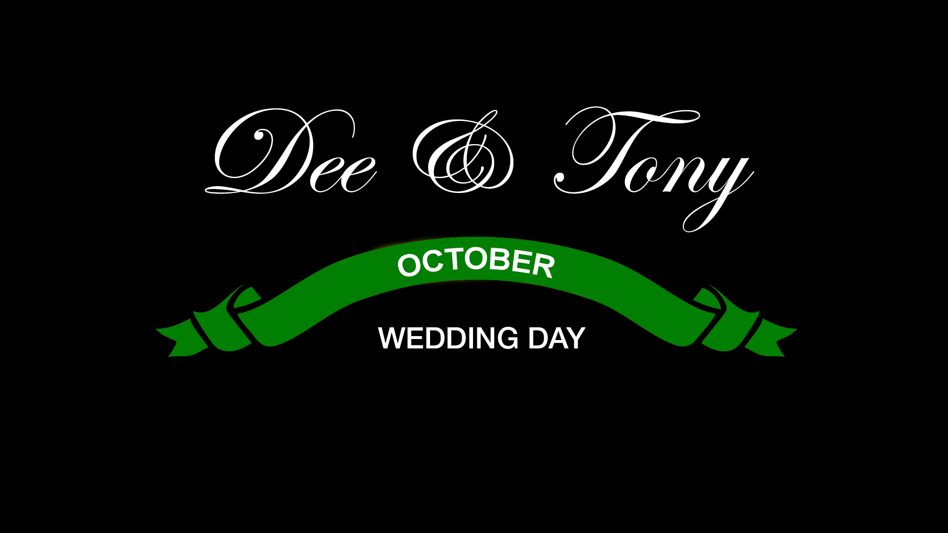 Tony and Dee Wedding